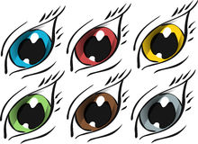 被设置的色的眼睛 图库摄影