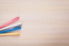被设置的色的笔 免版税库存图片