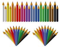 被设置的色的铅笔 免版税库存图片