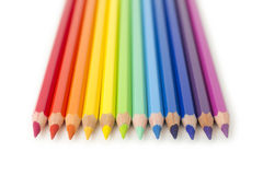 被设置的色的铅笔 库存图片