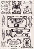 被设置的艺术装饰框架 库存图片