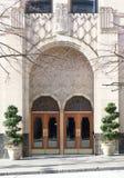 被设置的艺术装饰门道入口 库存图片