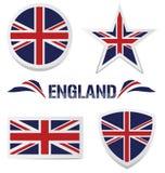 被设置的英国图标 免版税库存照片