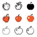被设置的苹果图标 库存照片