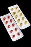 被设置的药片 免版税库存照片