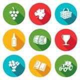 被设置的葡萄酒酿造象 也corel凹道例证向量 皇族释放例证