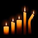 被设置的蜡烛 皇族释放例证
