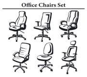 被设置的行政椅子 免版税图库摄影