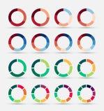 被设置的被分割的和多彩多姿的圆图 免版税库存照片