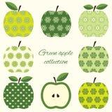 被设置的装饰苹果 免版税库存照片