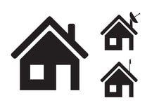 被设置的要素图象家庭图标 免版税图库摄影