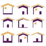 被设置的要素图象家庭图标 免版税库存图片
