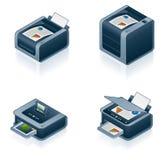 被设置的计算机硬件图标 库存照片