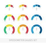 被设置的车速表测量仪 向量例证