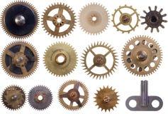 被设置的钝齿轮 免版税库存图片