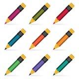 被设置的铅笔。 免版税图库摄影