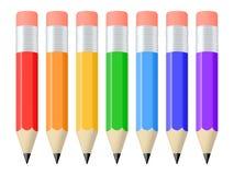 被设置的铅笔 免版税库存照片