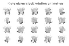 被设置的闹钟逗人喜爱的儿童断续装置孩子字符象自转动画标志框架隔绝了平的设计传染媒介 皇族释放例证