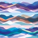 被设置的颜色山,透亮波浪,抽象玻璃形状,现代背景,传染媒介您的设计例证射出 向量例证
