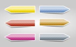 被设置的颜色箭头 图库摄影