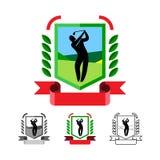 被设置的高尔夫球象征 库存图片