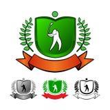 被设置的高尔夫球象征 库存照片
