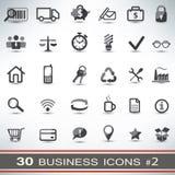 被设置的30个企业象 免版税库存图片