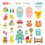 被设置的婴孩图标 免版税库存照片