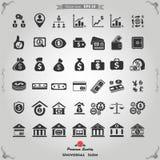被设置的货币图标 免版税库存图片