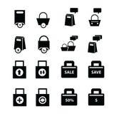 被设置的购物袋,泡影谈话 免版税库存照片