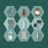 被设置的医疗设备象 图库摄影