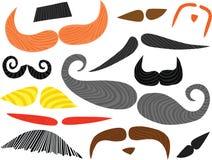 被设置的滑稽的髭 库存例证
