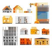 被设置的建筑象 向量例证