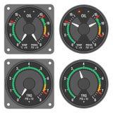 被设置的1个480b航空器控制板指示符 库存照片