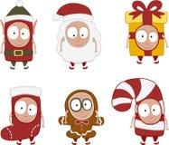 被设置的1圣诞节孩子 免版税库存图片