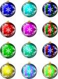 被设置的1圣诞节装饰品 免版税库存照片