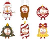 被设置的2个圣诞节孩子 免版税库存照片