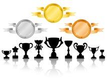 被设置的2枚奖牌 免版税库存照片