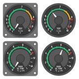 被设置的2 480b航空器控制板指示符 免版税库存图片