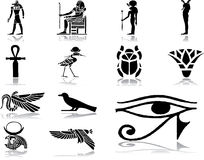 被设置的30个埃及图标 库存图片
