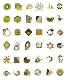 被设置的36个图标 免版税图库摄影