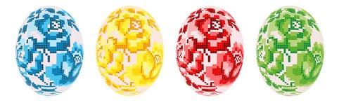 被设置的4个复活节彩蛋 免版税图库摄影