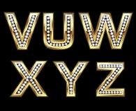 被设置的5个bling的首字母 图库摄影