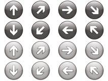 被设置的8个箭头按钮 库存图片