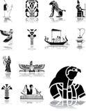 被设置的96个埃及图标 库存照片