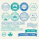 被设置的Bisphenol-A邮票 库存图片