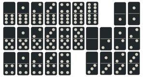 被设置的Domino 图库摄影