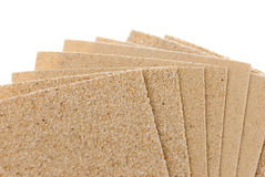 被设置的sandpapers 免版税库存照片