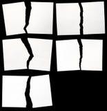 被设置被撕毁的纸张 库存图片