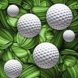 被设计的高尔夫球背景 库存图片